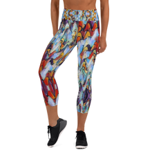 Load image into Gallery viewer, Expressionistic Landscape Figure Flattering Yoga Waist Capri Leggings