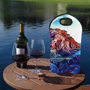 Italy 3  2-Bottle Neoprene Wine Bag