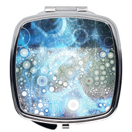 Compact Mirror- Galaxy Blue