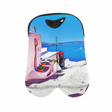 Load image into Gallery viewer, Greece 2   2-Bottle Neoprene Wine Bag