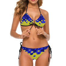 Load image into Gallery viewer, SOLD OUT: Cheeky Bikini Set - Zoombubble Blue & Yellow