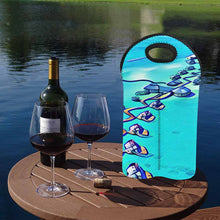 Load image into Gallery viewer, Maldives 1   2-Bottle Neoprene Wine Bag