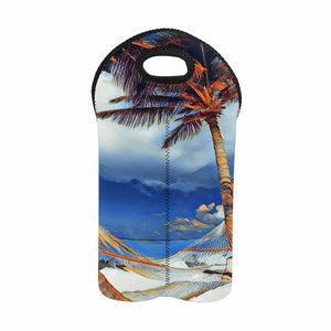 Beach Hammock  2-Bottle Neoprene Wine Bag