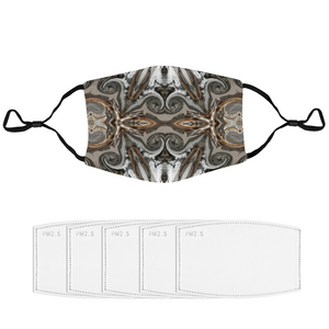 Adjustable Face Masks with Filter Element and Extra Filters- Neutral Flourish