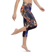 Load image into Gallery viewer, Lights of the City Art Yoga Waist Capri Leggings