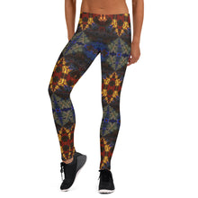 "Load image into Gallery viewer, Women's Regular Waisted Pattern Leggings Full-Length Yoga Pants- in ""Stained Glass 1"""