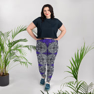 Purple Gothic Cross Plus Size Leggings