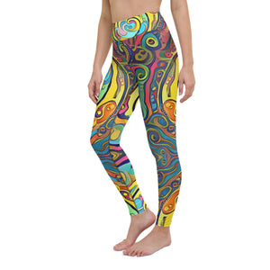 Loops Yoga Waist Leggings Ankle Length