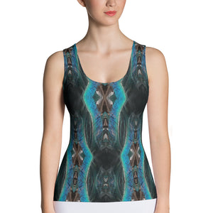 Peacock All over print  Tank Top
