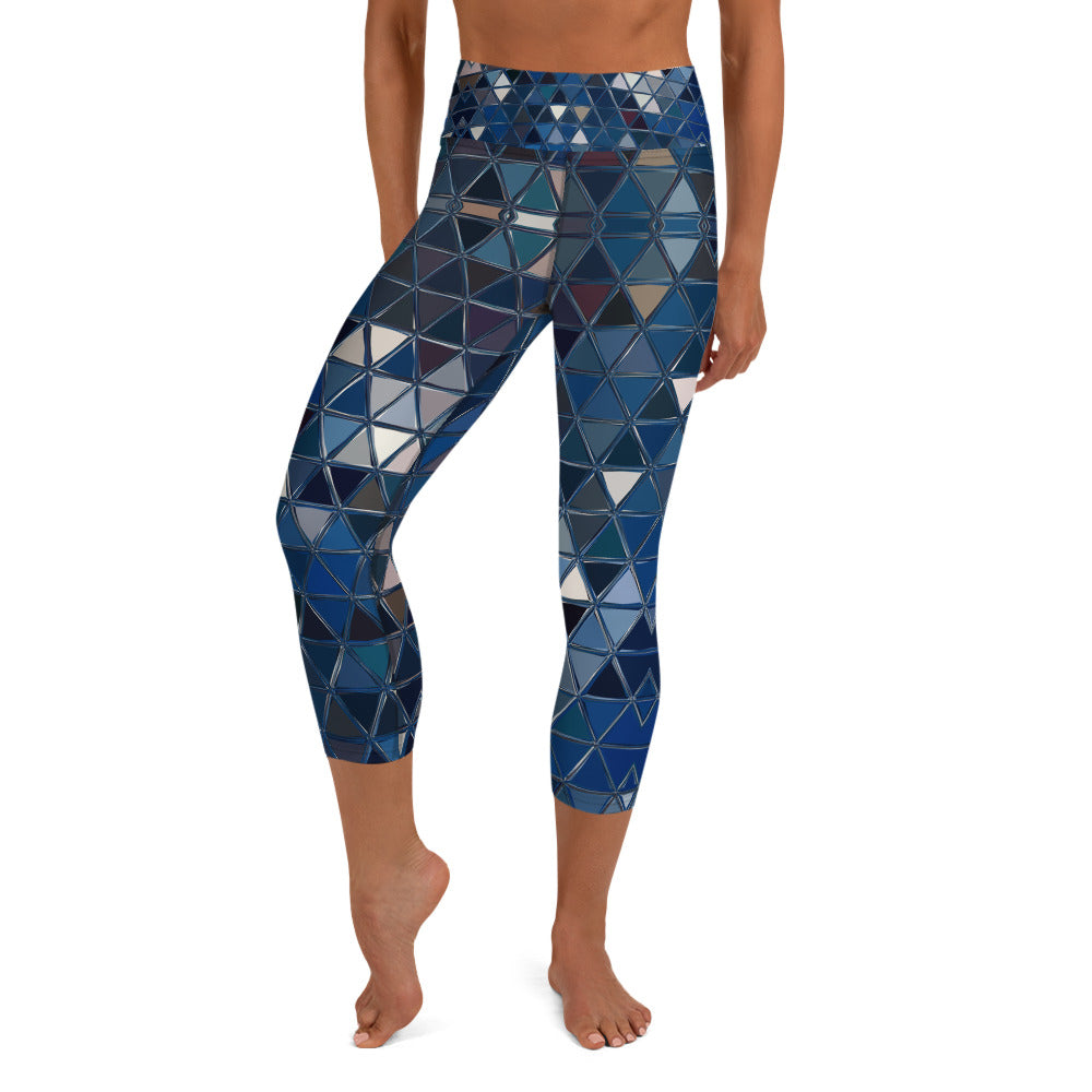 Remove Blue Reflections- Art You Can Wear, Yoga / High Waist Capri Leggings