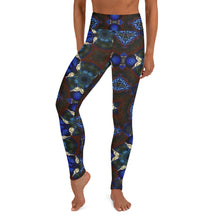 "Load image into Gallery viewer, Women's High Waisted Pattern Leggings Full-Length Yoga Pants - in ""Stained Glass 2"""