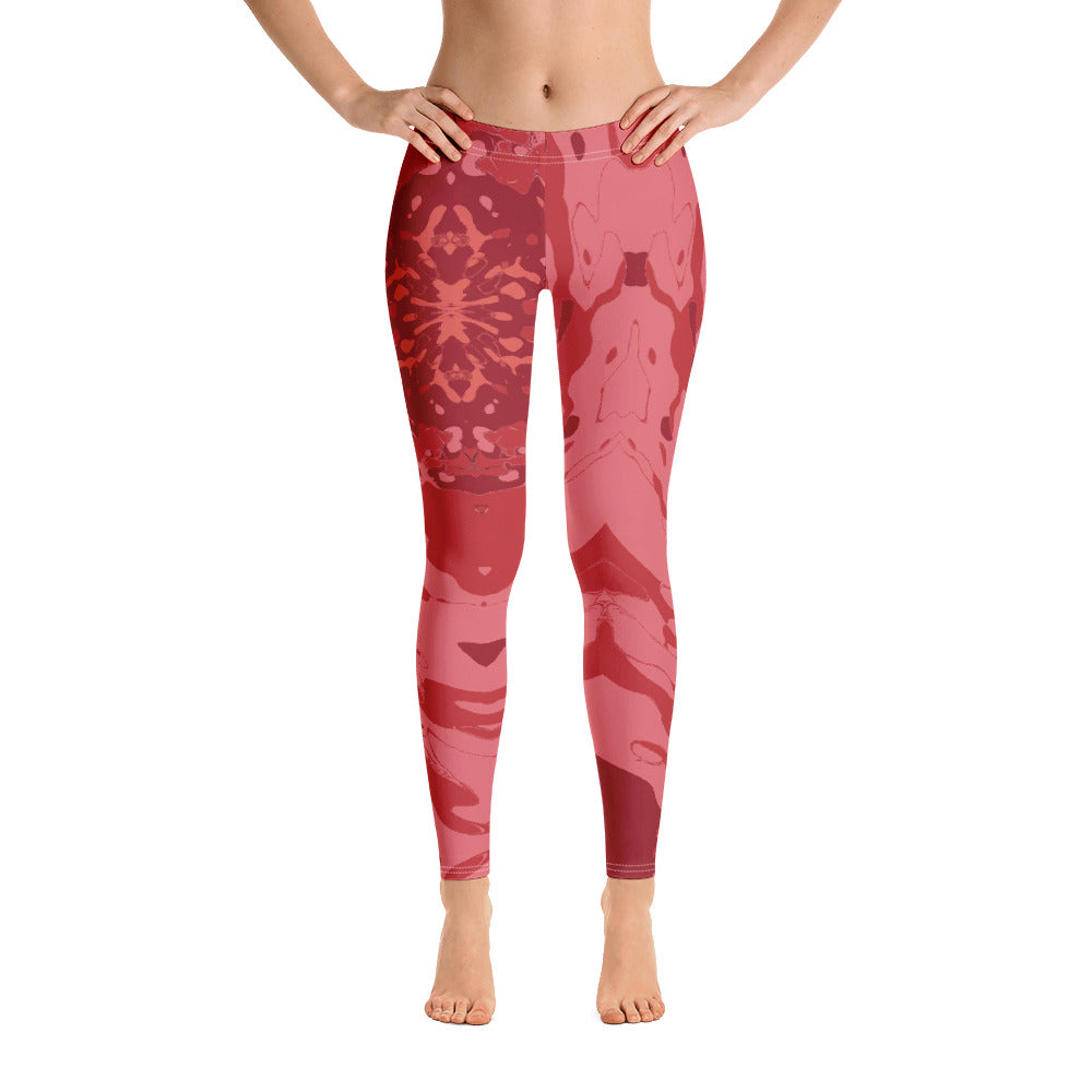 Women's High Waisted Pattern Leggings Capri Length Yoga Pants (Mid-Calf)- in