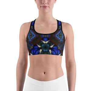 "Sports Bra / Yoga Top- ""Stained Glass 2"""