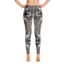 "Load image into Gallery viewer, Women's Regular Waisted Pattern Leggings Full-Length Yoga Pants-  in ""Neutral Flourish"""