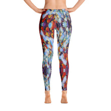 "Load image into Gallery viewer, Women's Regular Waisted Pattern Leggings Full-Length Yoga Pants - in ""Expressionistic Landscape"""