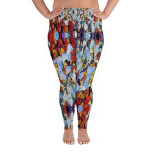 Load image into Gallery viewer, Expressionistic Landscape Plus Size Leggings