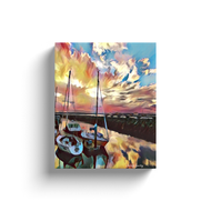 Sunset at the Marina - Canvas Wrap
