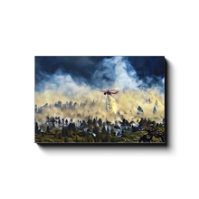Load image into Gallery viewer, Helicopter Water Drop Over Forest - Canvas Wrap