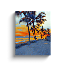 Load image into Gallery viewer, Canvas Wraps- Maui Cabana Sunset