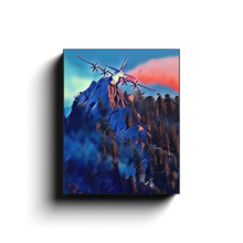 Load image into Gallery viewer, Airdrop Over Mountain Ridge Canvas Print
