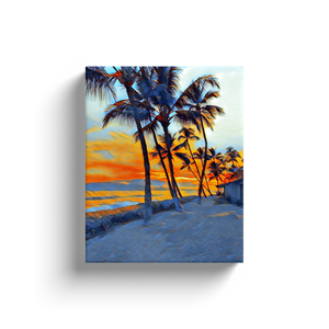Canvas Wraps- Maui Cabana Sunset