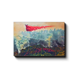 Airdrop Over Canyon- Canvas Wrap