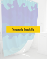 Shower Curtain Painted Blue Waves- 72
