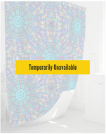 Shower Curtain- Turquoise Mandala Stars Pink Yellow , 72
