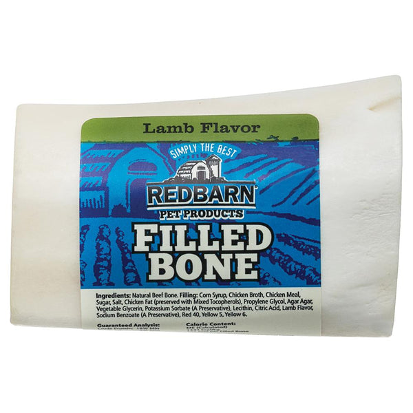 Filled Bone Lamb Flavor Bones redbarnpetproducts Small Single bone