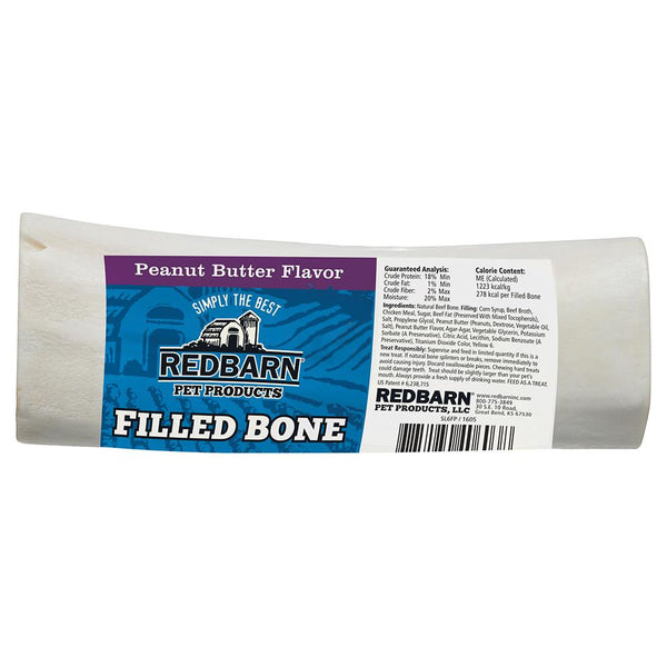 Filled Bone Peanut Butter Flavor Bones redbarnpetproducts Large Single bone