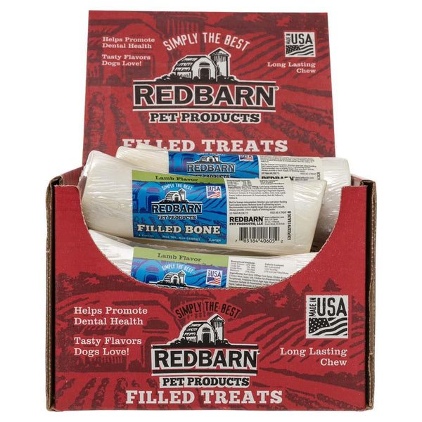 Filled Bone Lamb Flavor Bones redbarnpetproducts Large Case of 15 bones