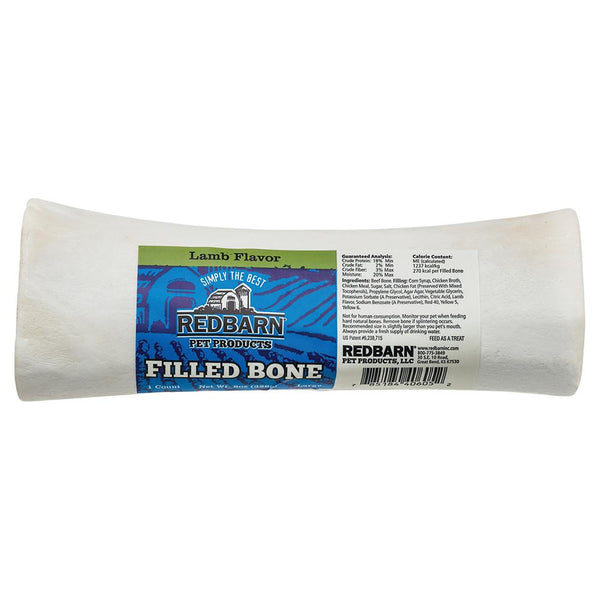 Filled Bone Lamb Flavor Bones redbarnpetproducts Large Single bone