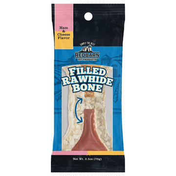 Filled Rawhide Bone Ham & Cheese Flavor