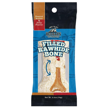 Filled Rawhide Bone Peanut Butter & Jelly Flavor