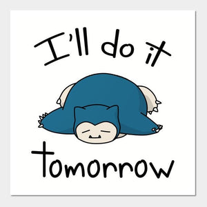 "Snorlax ""I'll Do It Tomorrow"" Tee"