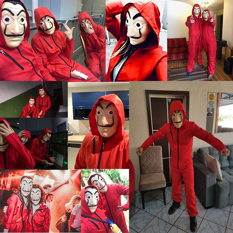 Money Heist Costume Promo: Buy 1 Jumpsuit Get Mask & Gloves Free!