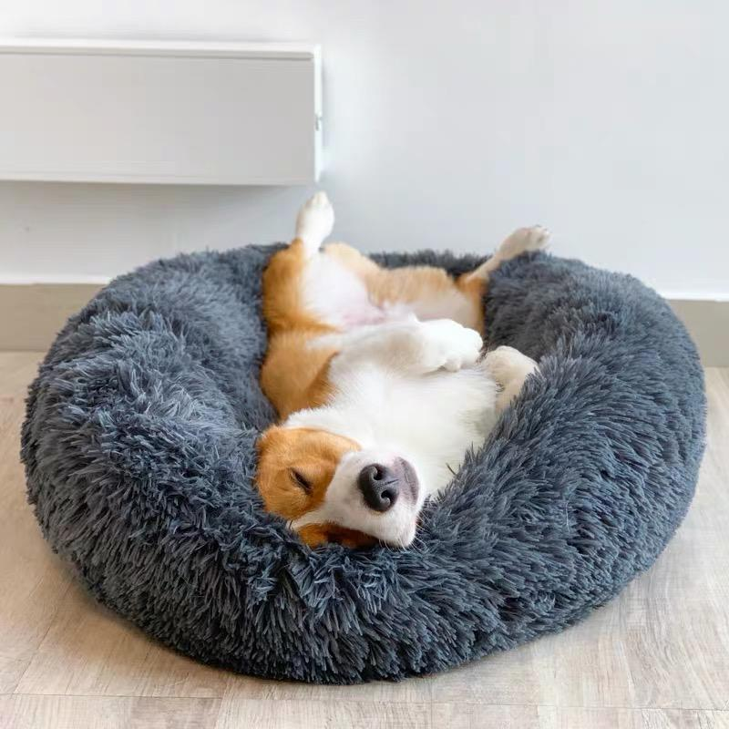 Calming Pet Bed: Order Today And Get Our Best Selling Chew-Resistant Stuffed Plushie For Free!