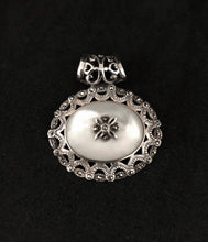 Load image into Gallery viewer, Pendant - DEP02MOP    Silver, Marcasite & Mother of Pearl