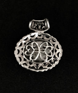 Pendant - DEP02MOP    Silver, Marcasite & Mother of Pearl
