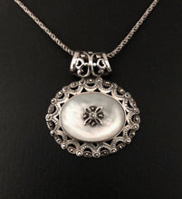 Load image into Gallery viewer, Pendant - DP02MOP    Silver, Marcasite & Mother of Pearl