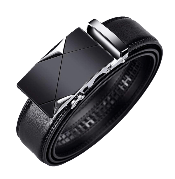 Vent Buckle Leather Belt
