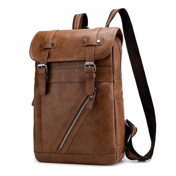 Hommes Technical Leather Backpack