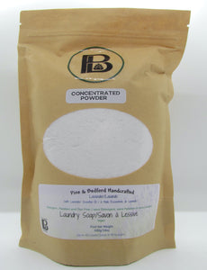 Pine and Bedford's Lavender Essential Oil concentrated powdered laundry soap
