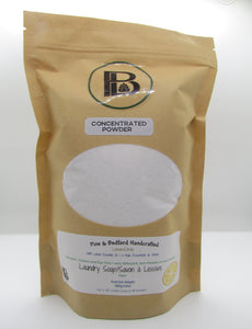 Pine and Bedford's Lemon Essential Oil concentrated powdered laundry soap.