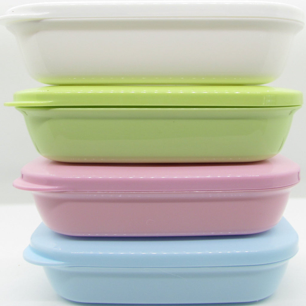 Pine and Bedford's soap accessories - soap box - White, Green, Pink and Blue