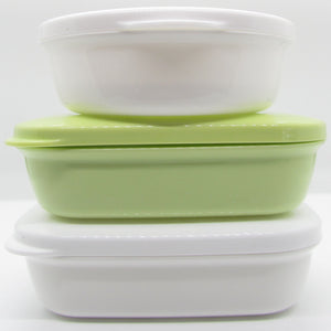 Pine and Bedford's soap accessories - soap box (round and rectangular). Available in: White, Green Pink and Blue.