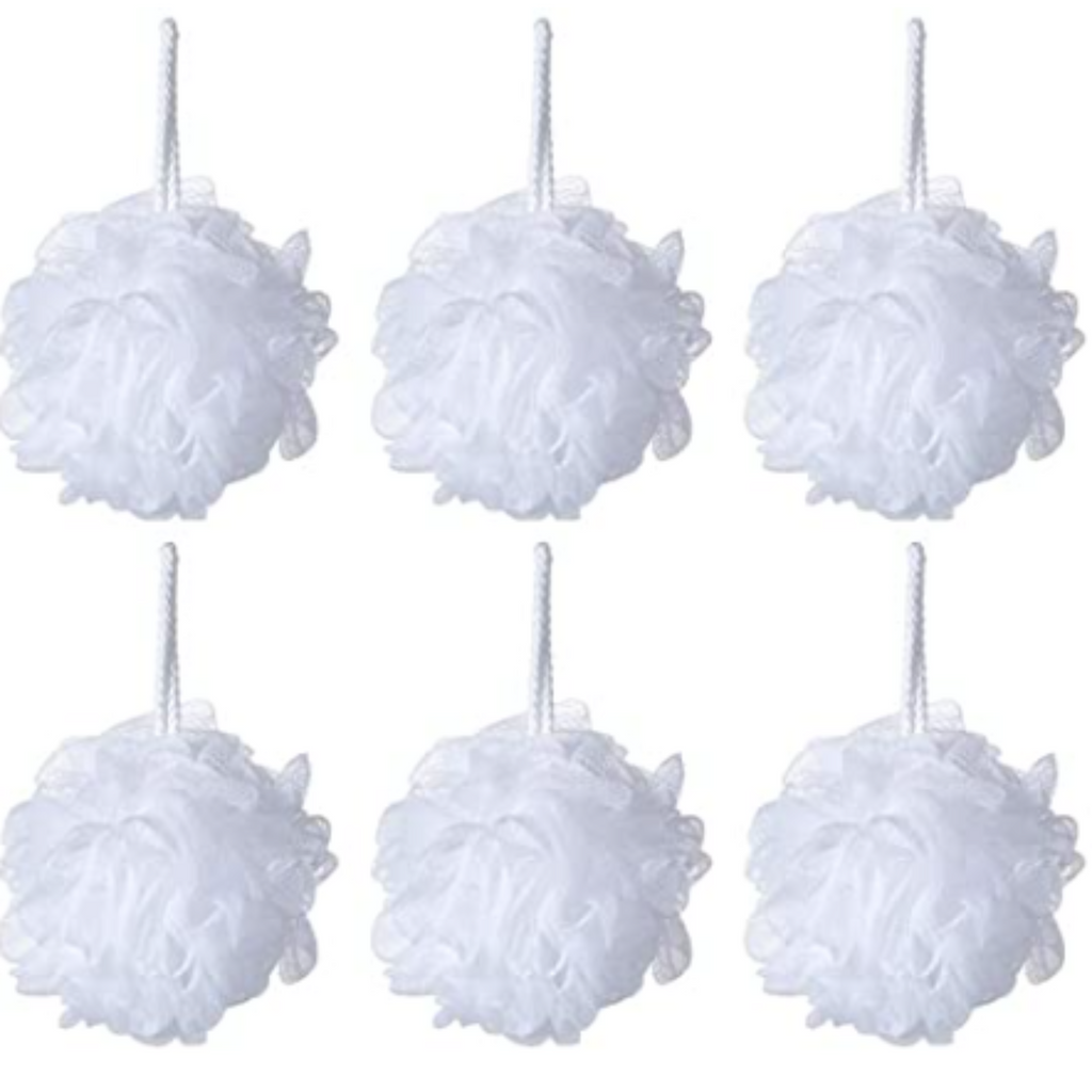 Pine and Bedford's soap accessories - Shower Poof in White.