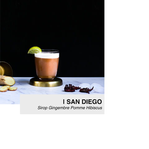 cocktail san diego au sirop lissip gingembre pomme hibiscus