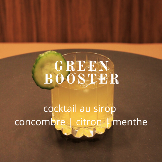 Cocktail Lissip Green Booster au sirop Concombre Citron Menthe