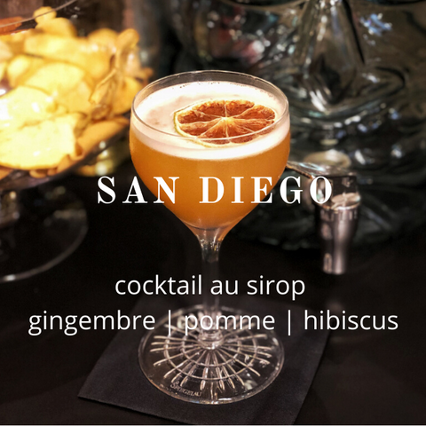 Cocktail Lissip San Diego au sirop Gingembre Pomme Hibiscus